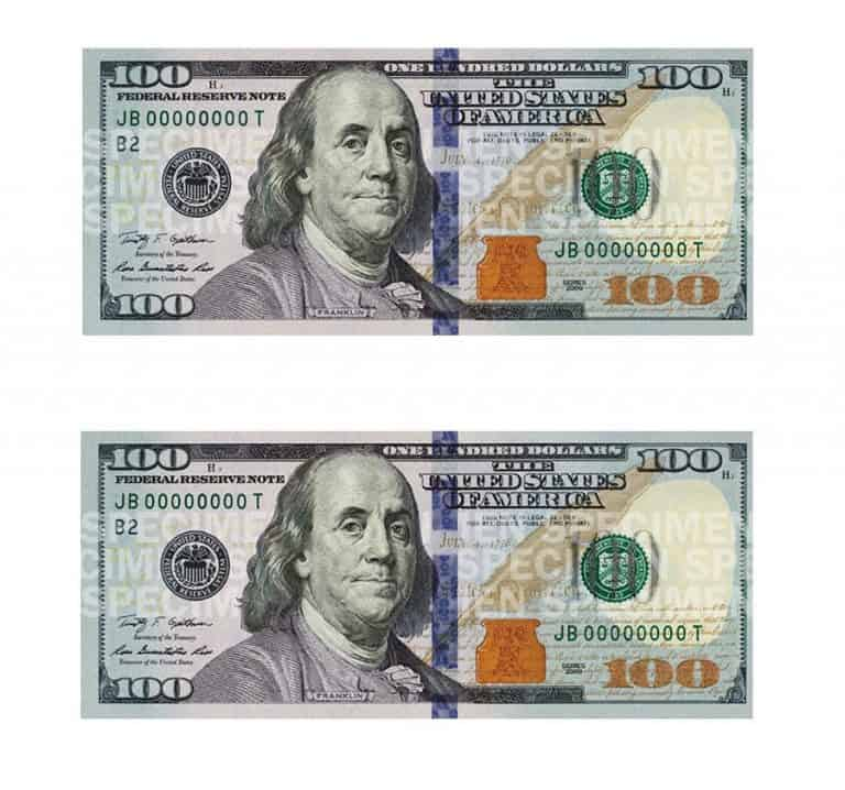 Empire Rolling $100 Dollar Bill Rolling Paper Hand Printed