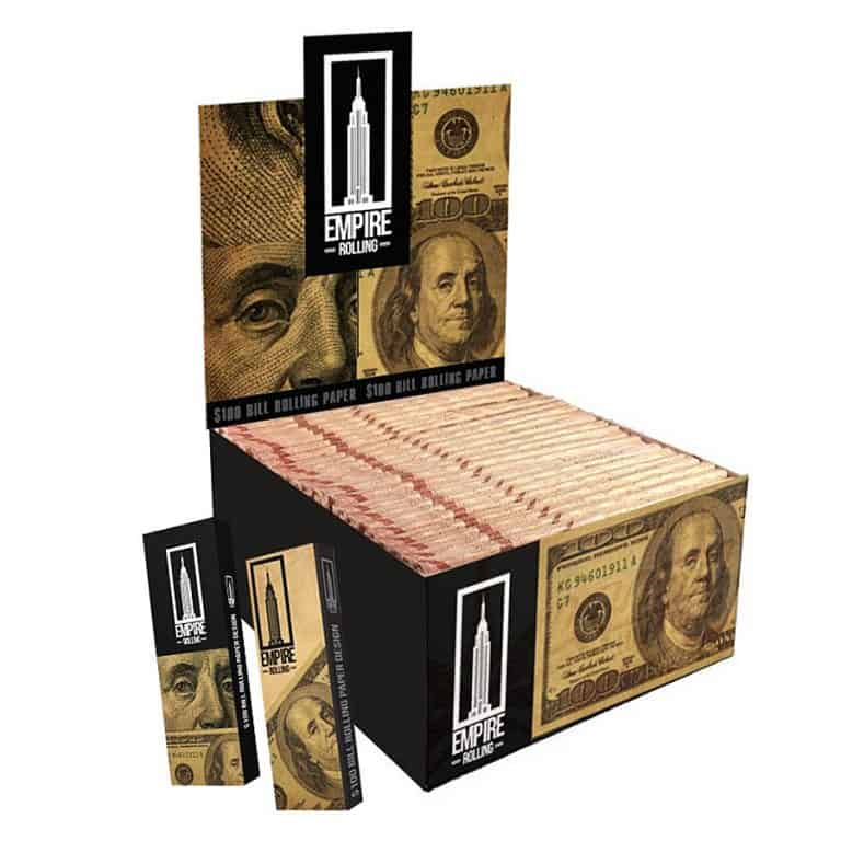 Empire Rolling $100 Dollar Bill Rolling Paper Wallet Pack