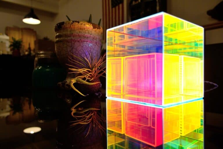 Fresnel Table Lamp Colorful Ligthing