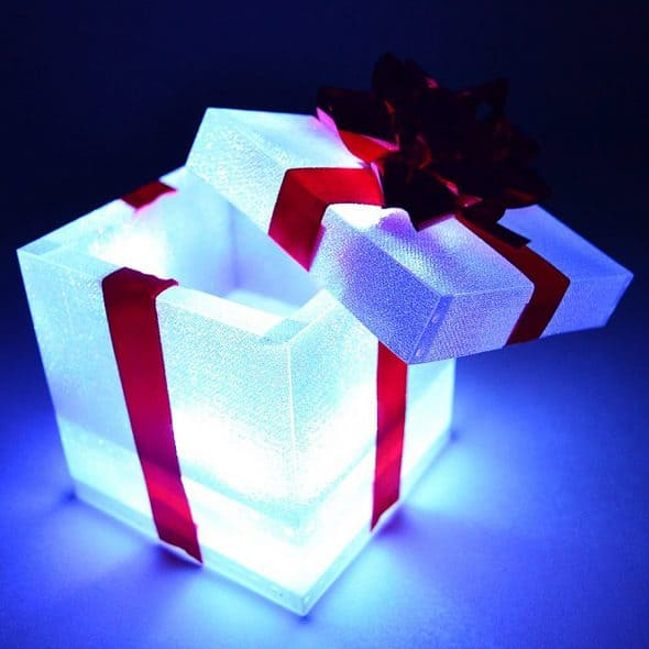 Glow City Light Up Gift Boxes Battery Operated