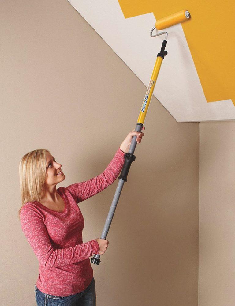 HomeRight PaintStick EZ-Twist Paint Roller Non Flexible Plastic Handle