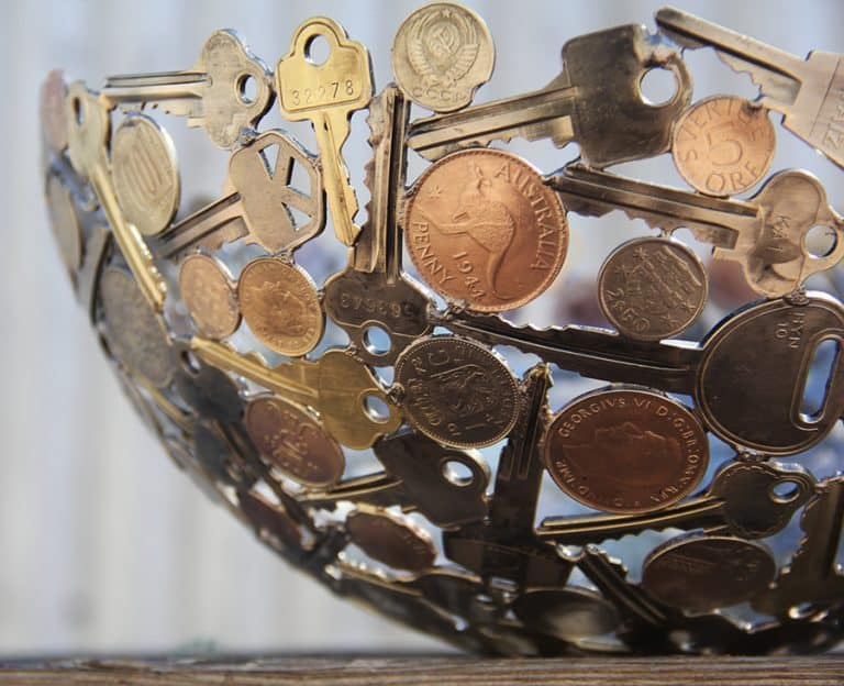 Moerkey Coin and Key Bowl Tabletop Display