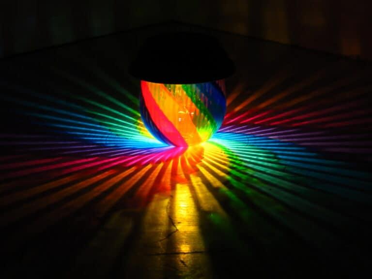 Mood Lights Rainbow Painted Solar Table Lamp Colorful Starburst Lighting