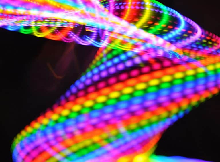 Moodhoops Neon LED Hoop Rainbow Colors