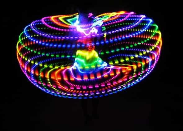 Moodhoops Neon LED Hoop Rave Party Essential