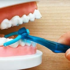 Flossing is as easy as brushing!