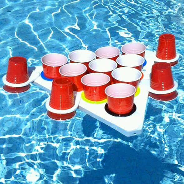 Play beer pong in the pool, because you can.