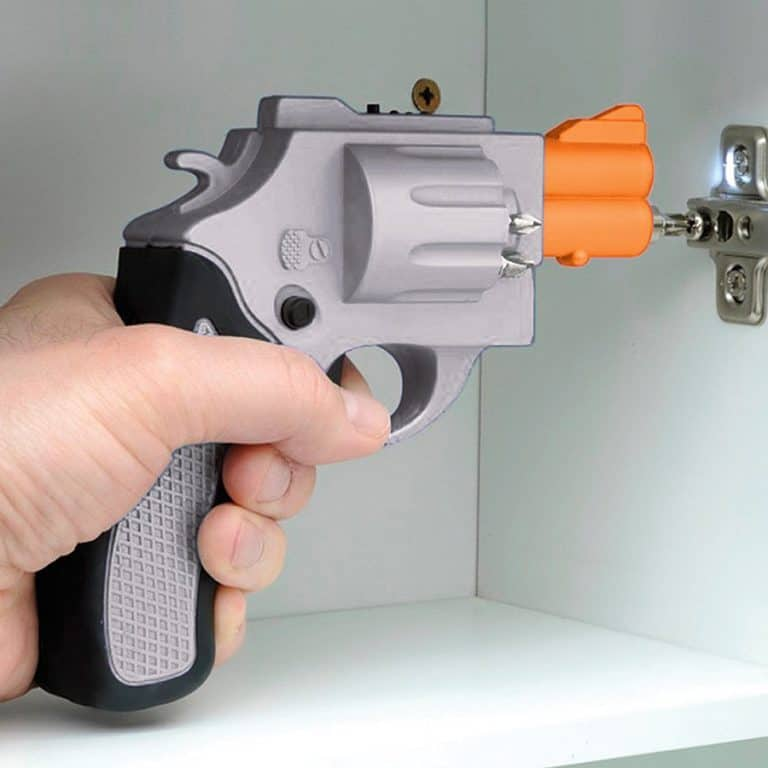 Revolver Shaped Screwdriver Rechargable