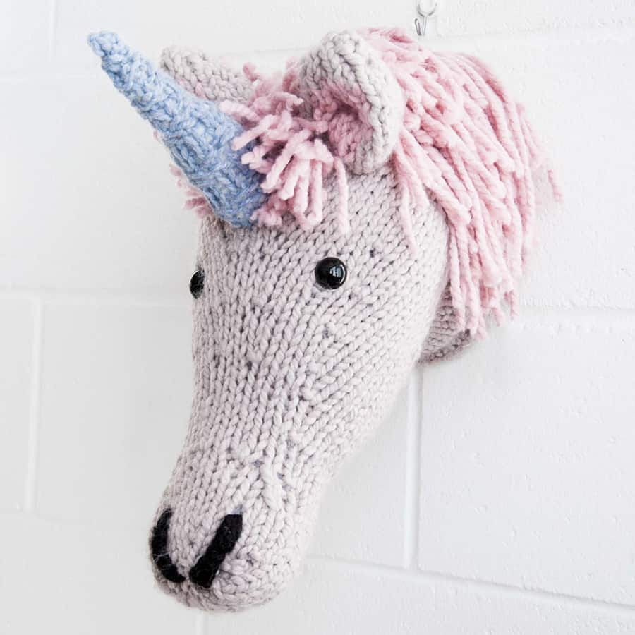 Sincerely Louise Faux Unicorn Knitting Kit Taxidermy