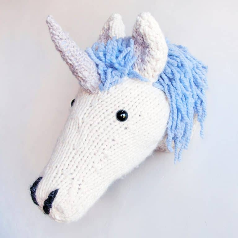 Sincerely Louise Faux Unicorn Knitting Kit Trophy Heads