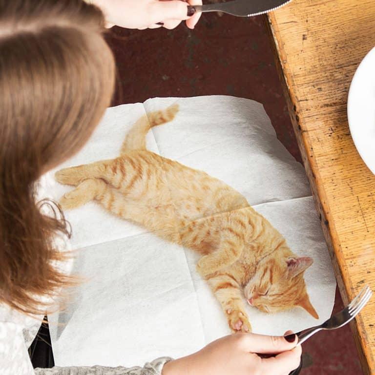 Suck UK Cat Napkins Table Etiquette