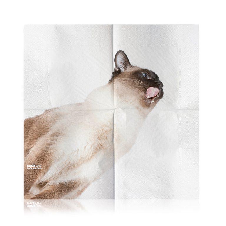 Suck UK Cat Napkins Wipes