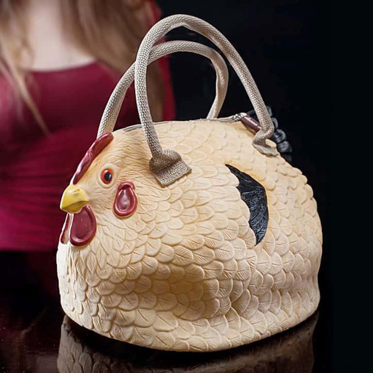 The Original Chicken Handbag Rubber Chicken