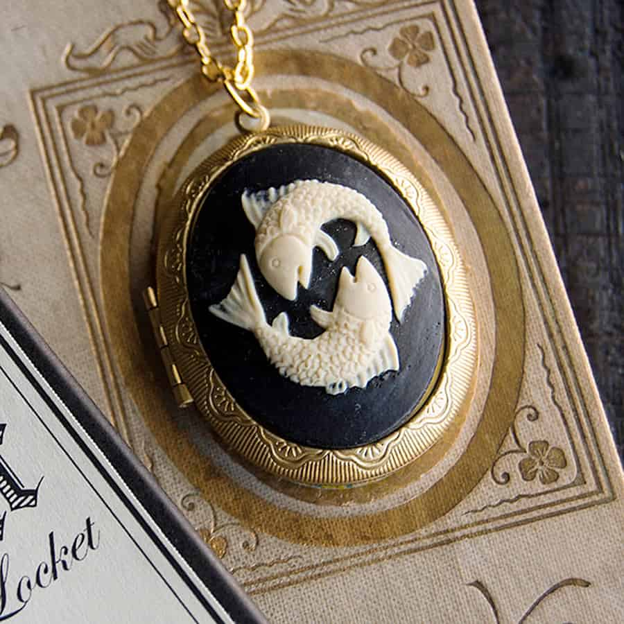 The Parlor Apothecary Zodiac Perfume Locket Necklace Fragrance Oils