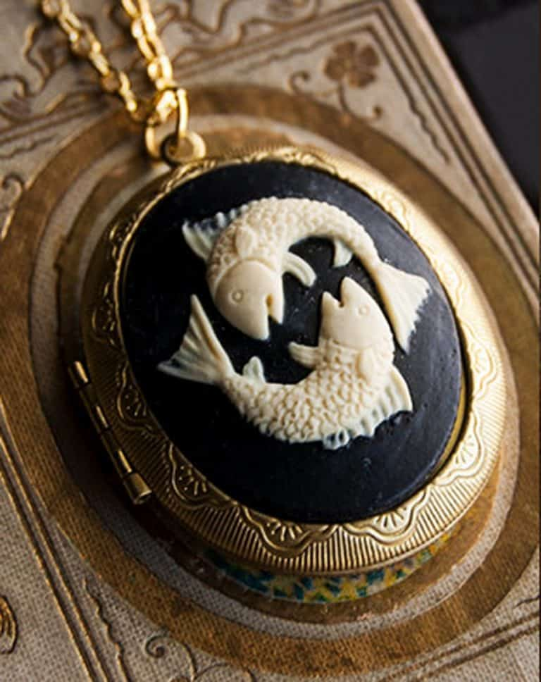 The Parlor Apothecary Zodiac Perfume Locket Necklace Handmade