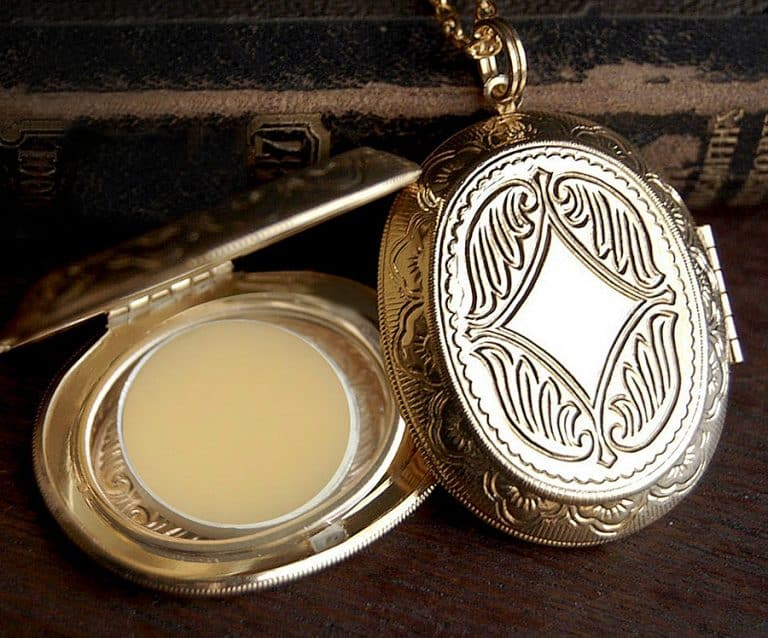 The Parlor Apothecary Zodiac Perfume Locket Necklace Made from Brass