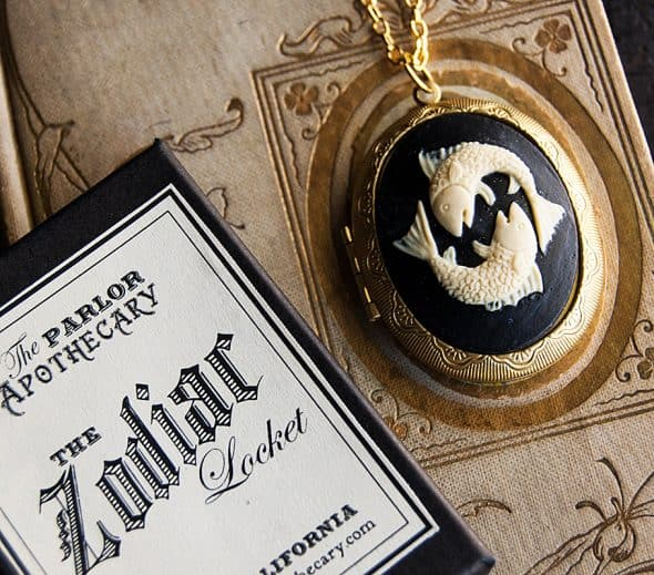 The Parlor Apothecary Zodiac Perfume Locket Necklace With Hidden Fragrance Oils