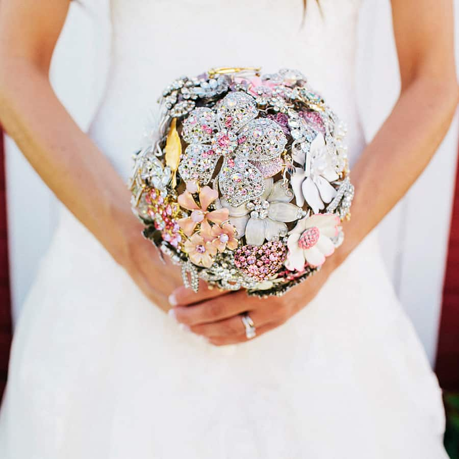 The Ritzy Rose Brooch Handcrafted Bouquet Customizable
