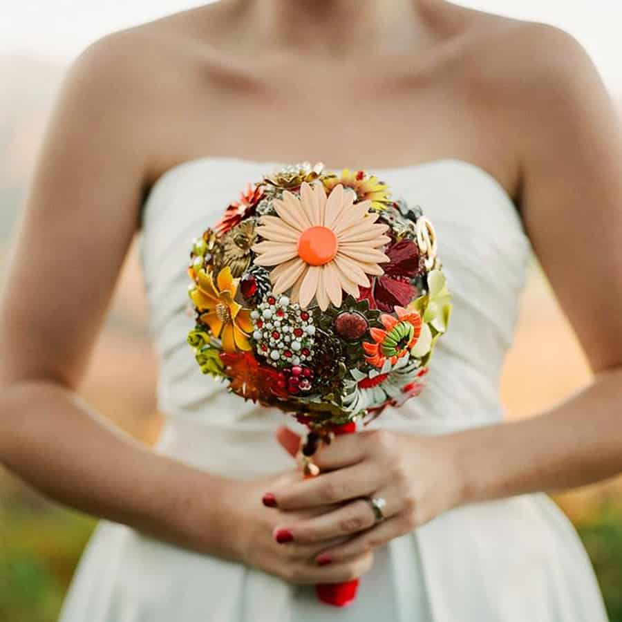 The Ritzy Rose Brooch Handcrafted Bouquet Wedding Product