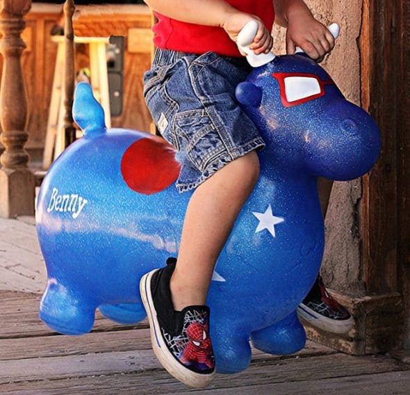 Waliki Benny The Jumping Bull Inflatable Animal Hopper Easy to Inflate