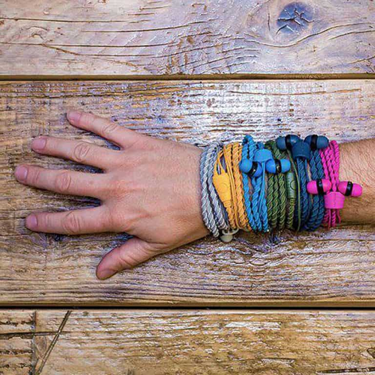 Wraps Wearable Braided Wristband Headphone Accessory