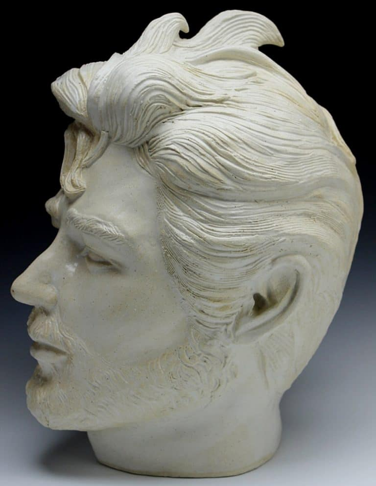 Adrien Art Custom Bust Portrait Sculpture Head Ceramic