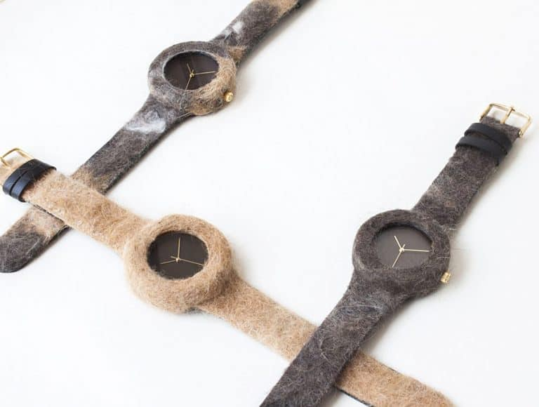 Analog Watch Co Animal Fur Watch Leather Straps