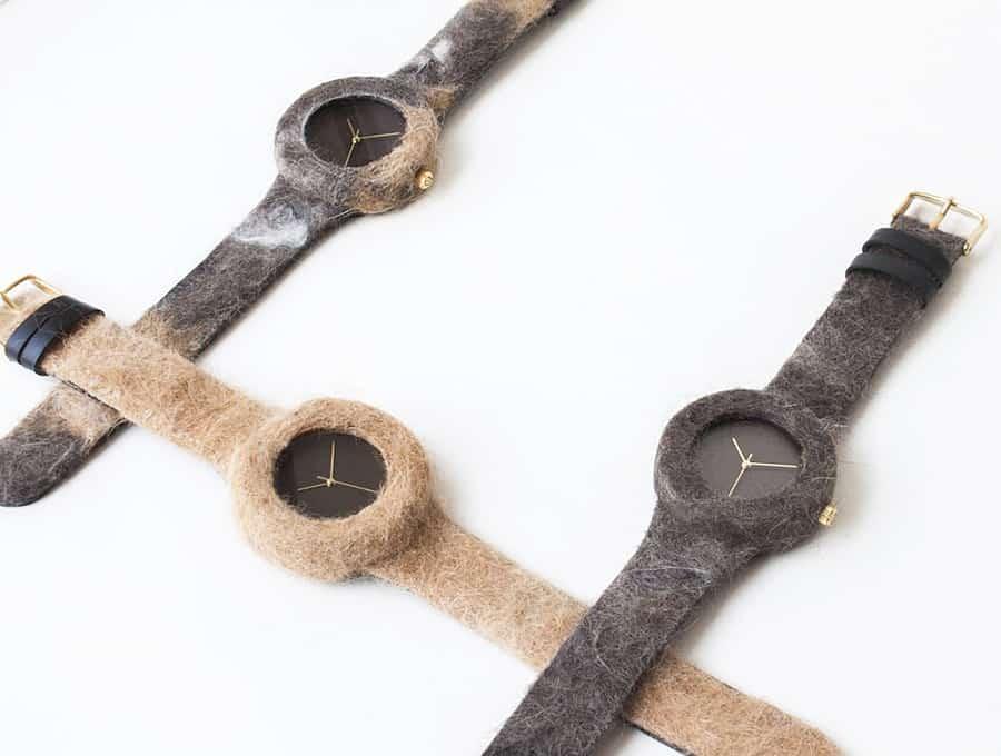 Analog Watch Co Animal Fur Watch Leather Straps
