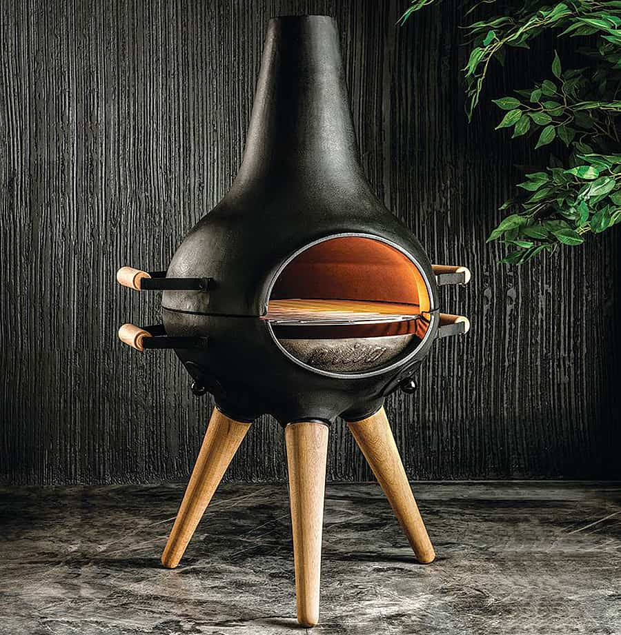From chiminea to BBQ grill.