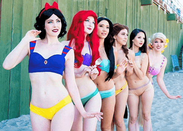 And they lived happily ever after… in their bikinis.
