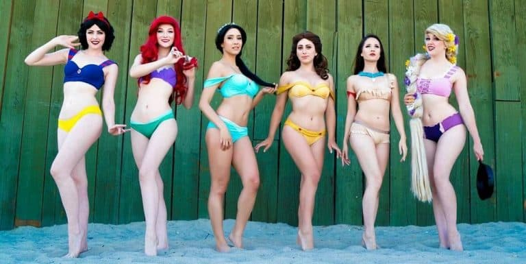 Enchanted Bikinis Disney Princesses Bikinis Cosplay Swimsuits
