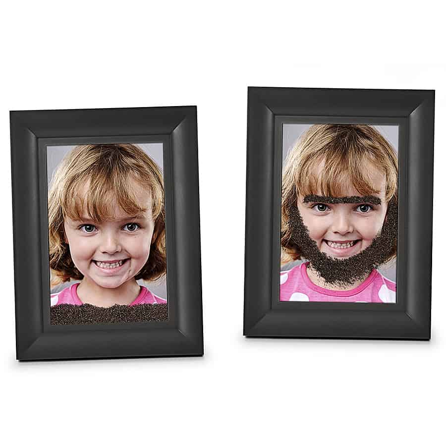 Fred friends fuzzy face magic magnetic picture frame noveltystreet the frame will hold everything in place until you are ready to do another make over jeuxipadfo Image collections