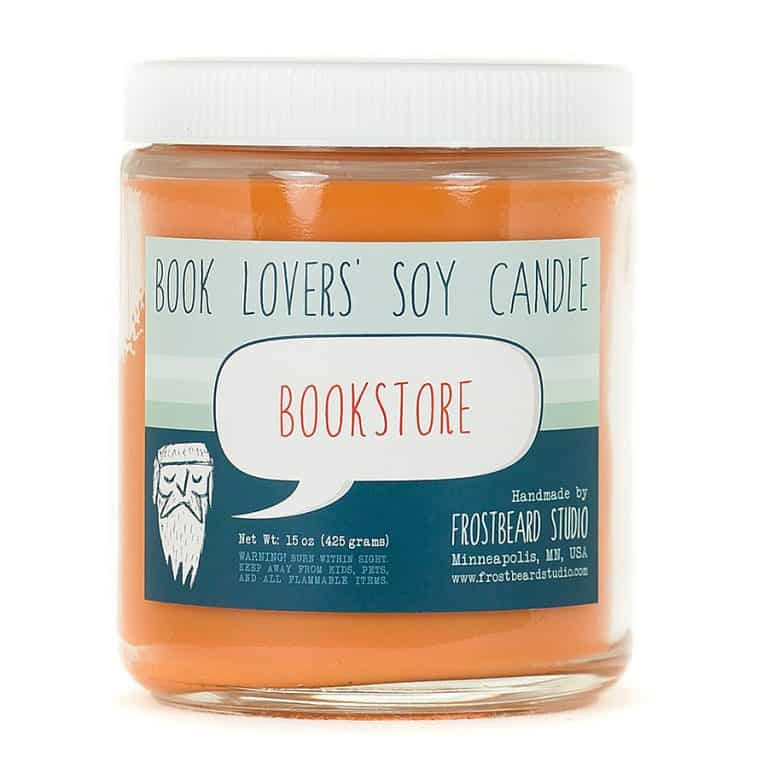 Frostbeard Bookstore Scented Soy Candle Eco Friendly