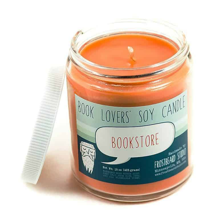 Frostbeard Bookstore Scented Soy Candle handmade Product