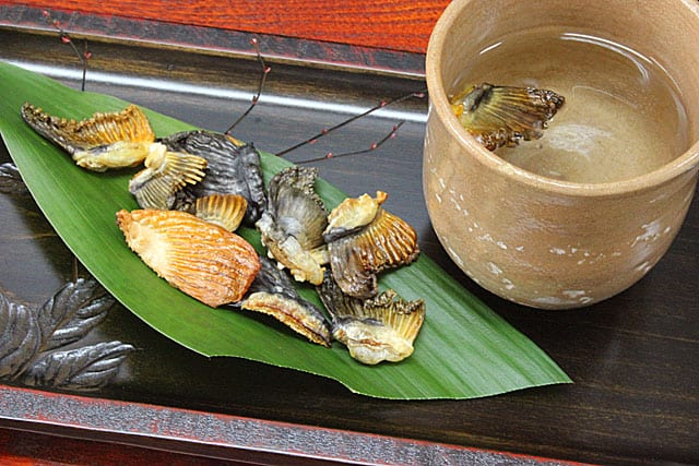 Grilled Torafugu Fin Japanese Blowfish Delicacy Healthy Snack