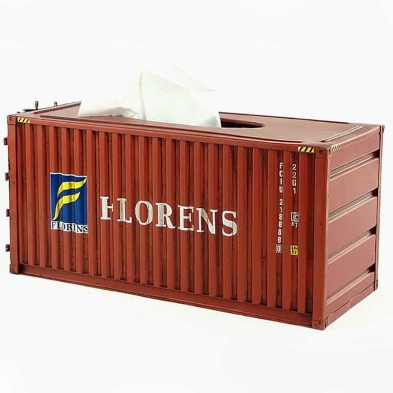 InfPass Handmade Antique Container Tissue Box Cargo Containers