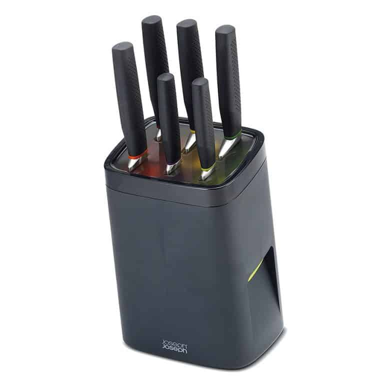 Joseph Joseph Self Locking Knife Block with Knife Set Cooking Tool