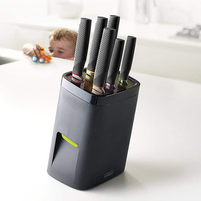 Joseph Joseph Self Locking Knife Block with Knife Set Kitchen Tools