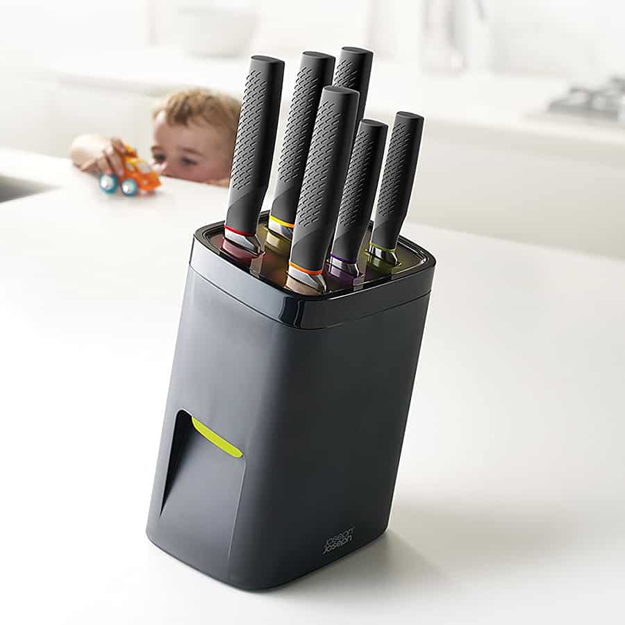 Child-proof your kitchen, lock your knives.