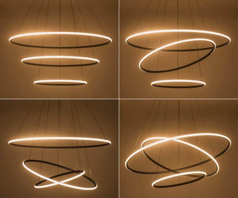 Modern Circular Pendant Light Chandelier Cool Lighting