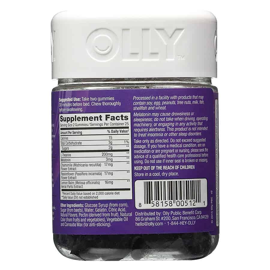 OLLY Restful Sleep Gummy Supplements Organic