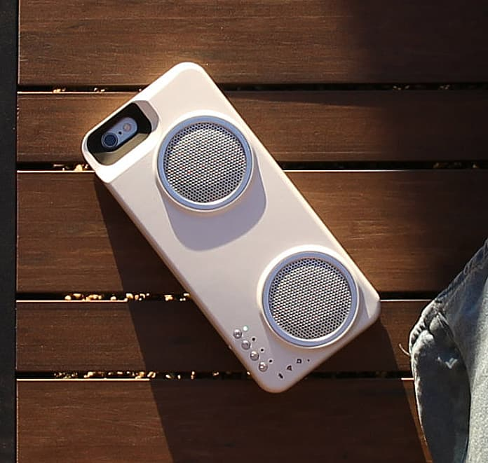 Mini boombox on your phone.