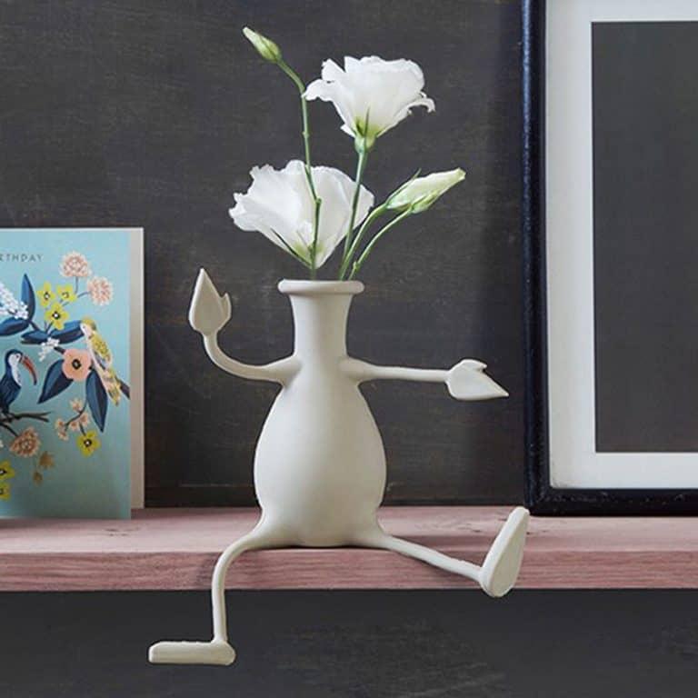 Peleg Design Florino Friendly Flower Vase Tabletop