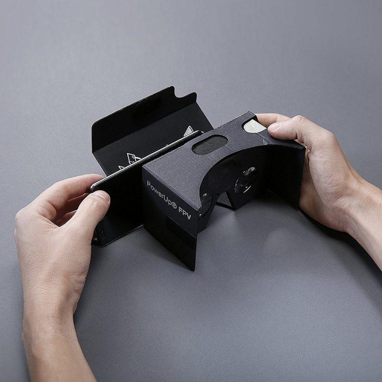 PowerUp FPV Paper Airplane VR Drone Model Kit Google Cardboard