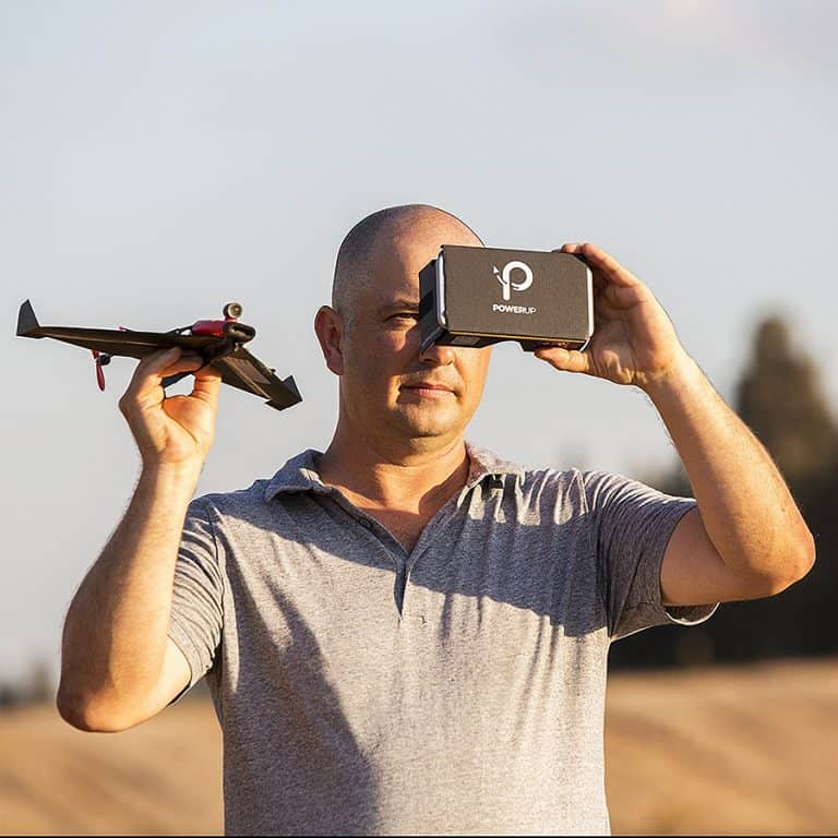 PowerUp FPV Paper Airplane VR Drone Model Kit Smartphone Compatible