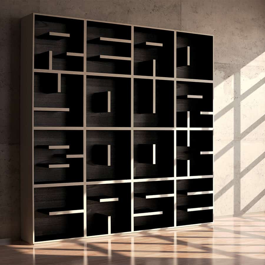 REdesign ABC Bookcase Ash Wood
