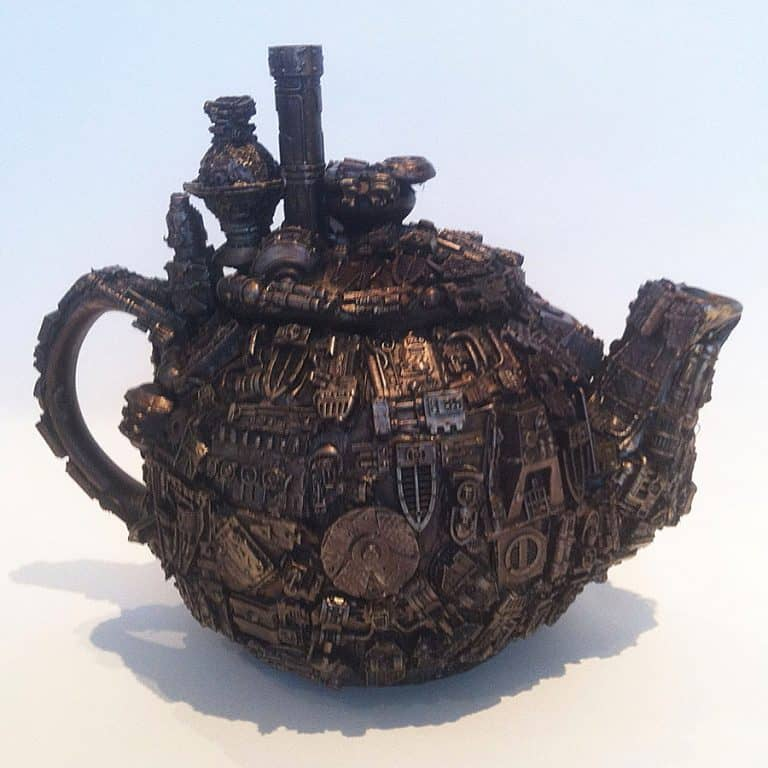 Richard Symons Techno Steampunk Teapot Sculpture Made to Order Item