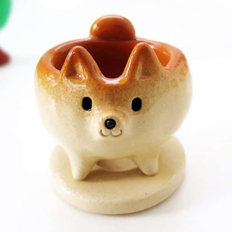 Siros Funny Animals Shiba Inu Shaped Cactus Pot Figurines
