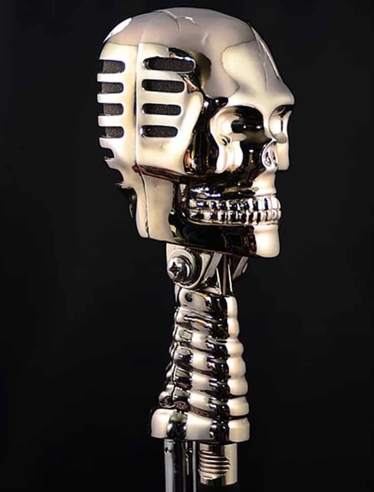Skull Microphone Music Studio