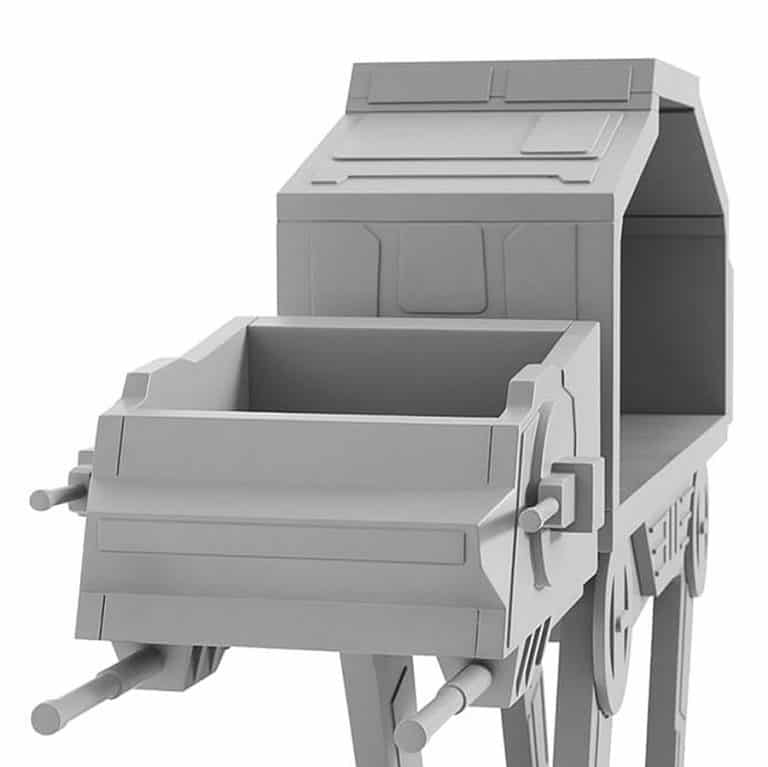 Star Wars AT-AT Bookcase Charcoal Finish